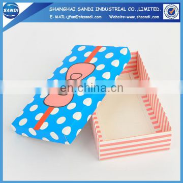 Beautiful custom paper christmas gift box with printing