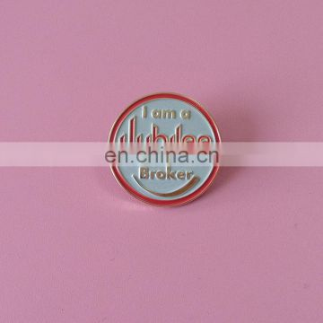 OEM factory price 25mm soft enamel logo metal lapel pin badge