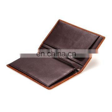 Top Selling Cheap Price Men's Genuine Cowhide Leather Passport Wallet