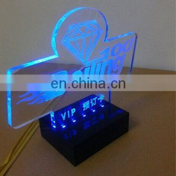 New design acrylic laser cut led sign led sign brand acrylic alphabet  letter sign with led light
