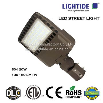 Lightide DLC_ETL_CE_RoHs led street lights, 60W, 5 yrs Warranty