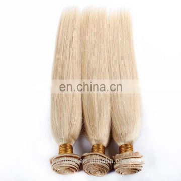 honey dropshipping Top quality 100% human # 613 color hair, raw bundles hair weaves, cheap virgin blonde hair