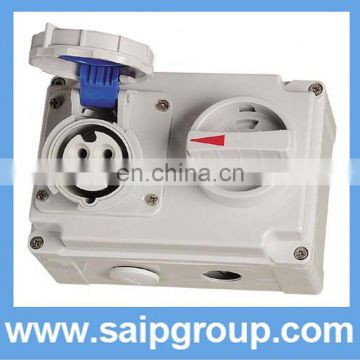 industrial socket with elcb dc electrical plugs and sockets