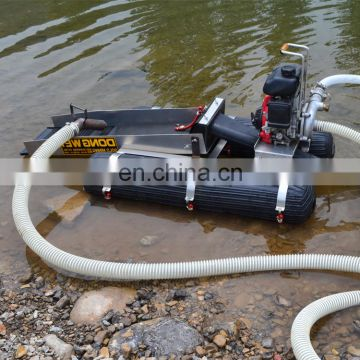 2 inches floating gold mining dredge with gas engine