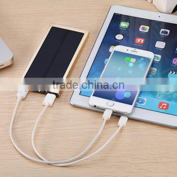 2017 Hot sale ultra slim dual USB ports 20000 mah power bank for iPhone and iPad etc