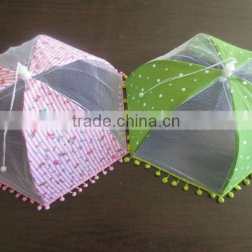 high quality foldable food cover with flower