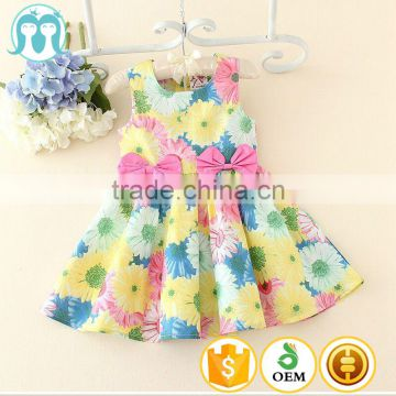 aee757016 fashion wholesale designer clothing for kids new design baby cotton frocks  designs with korean flower print