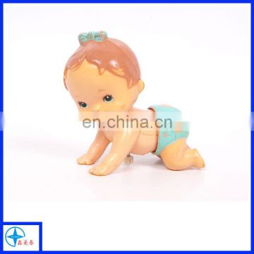 crawling baby wind up doll