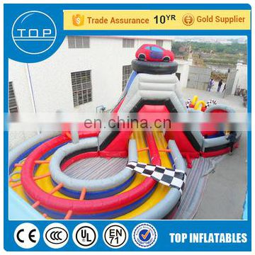 Golden Supplier bounce round obstacle course happy hop inflatable water slide China suppliers