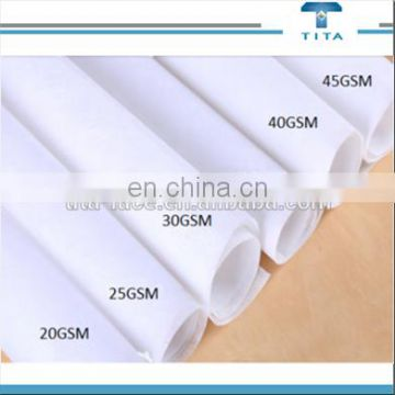 High quality polyvinyl alcohol water soluble nonwoven fabric/lace material/PVA cloth