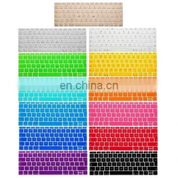 Soft 12 inch Translucent Colorized Keyboard Protective Cover Skin for new MacBook