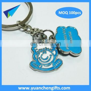 Wholesale Quote Custom Round Engrave Letters Metal Keychain