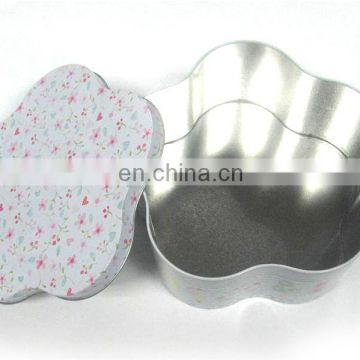 Flower shape packing tin