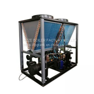 HVAC system used 65KW modular design cooling and heating air cooled water chiller