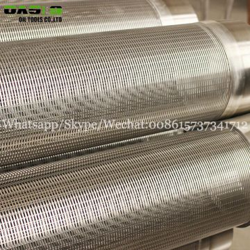 TP316L Grade Johnson stainless steel wire wrapped screen type pipe for sand control