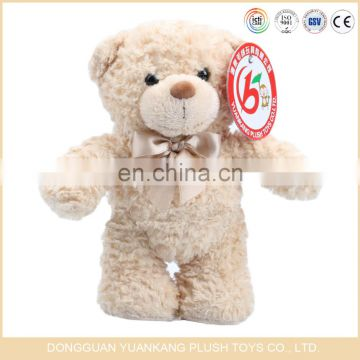 Small stuffed fluffy teddy bears plush toys with colorful ribbon