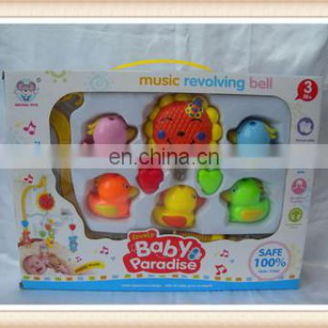color plastic baby bed bell