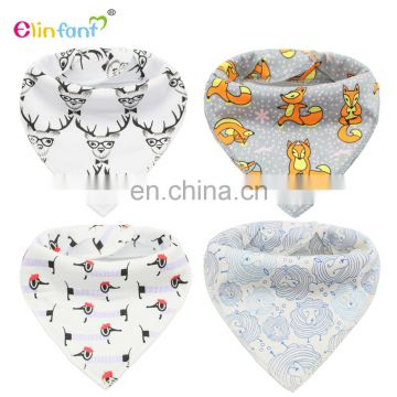 Elinfant cotton bibs baby gift set wholesale bandana soft baby bib