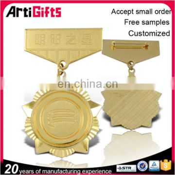 Customized design metal badge clips pin, medal