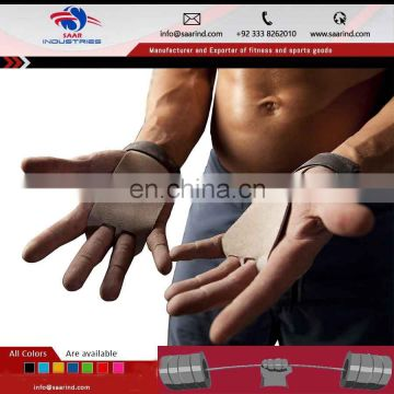 Gymnastic Leather Grip / Crossfit Leather Palm Protectors Hand Grips / Weight Lifting Glove Type Hand Grips FHA Supplier Sialkot
