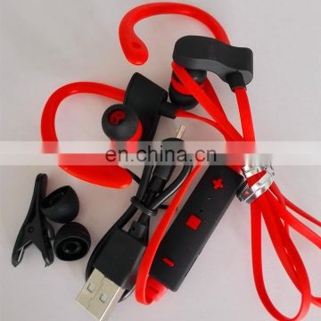 BT 4.1 sports earphone phone calling long music time wireless ear phone with portable box