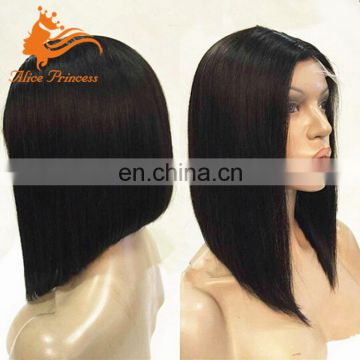 Aliexpress Hair Full Lace Wig Natural Malaysian Hair Silky Straight Bob Glueless Wig With Beautiful Packing