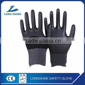 High Profermance 15G Nylon Liner 3/4 PU Coated on the Palm Anti-static Work Safety Glove