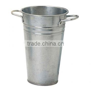 Galvanized French Vase galvanized metal bucket vase