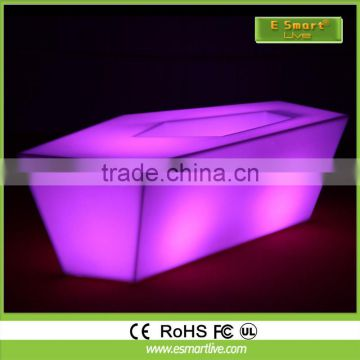 Modern Appearance and beautiful LED color changing illuminated bar table