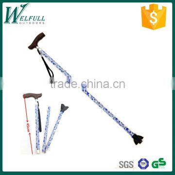 Elderly walking stick with wood grip SZ20003