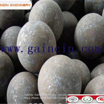 MnCr steel quality forged and rolling grinding media steel balls