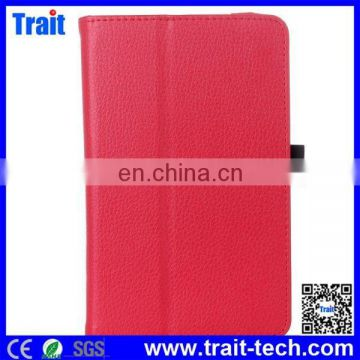 New Arrival Litchi Grain Flip Stand Leather Cover for Lenovo IdeaTab A3300 A7-30