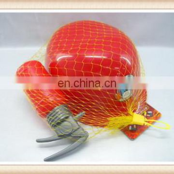plastic fireman hat toy helmet with extinguisher