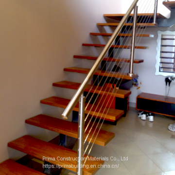 Hot Selling Oak Wood Straight Stairs With Glass Railing Indoor Design ...