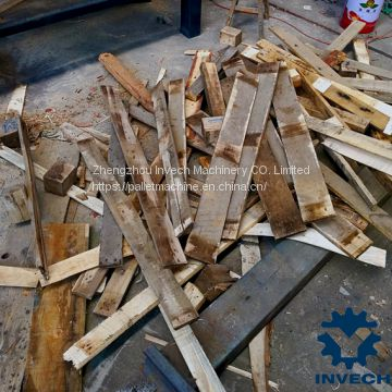 wooded pallet disassembly machine