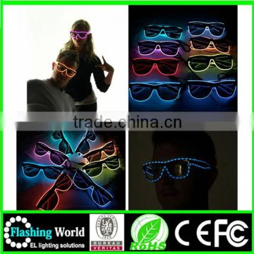amazing Music activated el wire light up shutter glasses