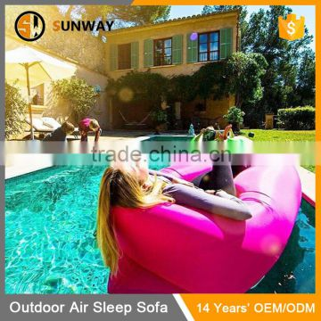 Easy Setup Air Filling Outdoor Sleeping Bag Hang Out Sofa