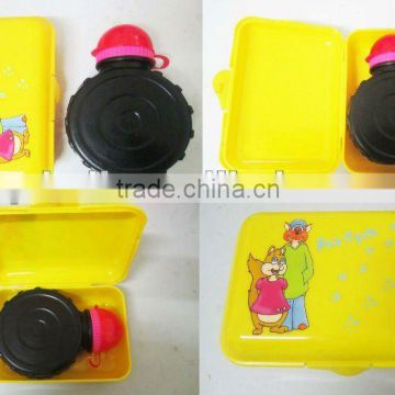 Hot-selling kids lunch box with water bottle