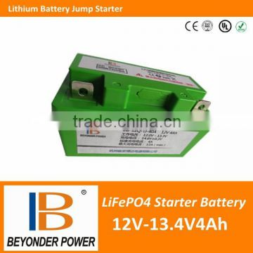Multi-functional 12V 6Ah jump start battery power start battery car battery jump start with charger and flame retardant ABS