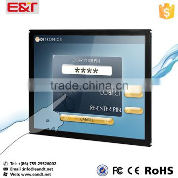"17"" USB interface Multi-touch IR touch screen frame waterproof/sunlight resistance panel kit for POS/Kiosk/ATM"