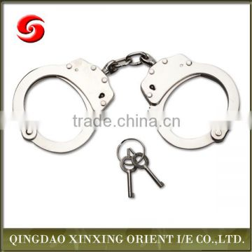 carbon steel and police handcuff