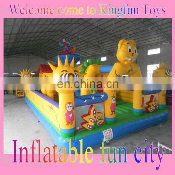 Commercial grade inflatable amusement park for party