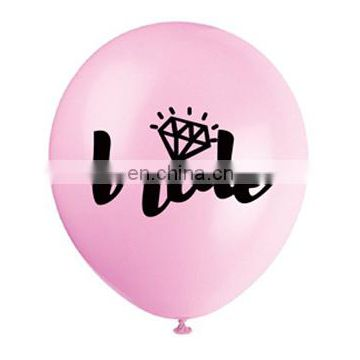 bride to be balloon and bachlorette veil latex air balloon
