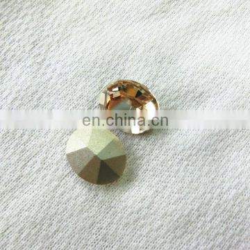 Oval crystal fancy stone machine cut point with the real silver