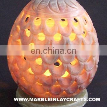 Carved Stone Decorative Candle Night Lamps