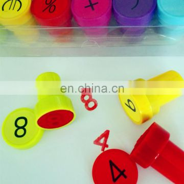 Arabic numbers fruit alphabet children or teacher stamp funny self-inking toy stamp