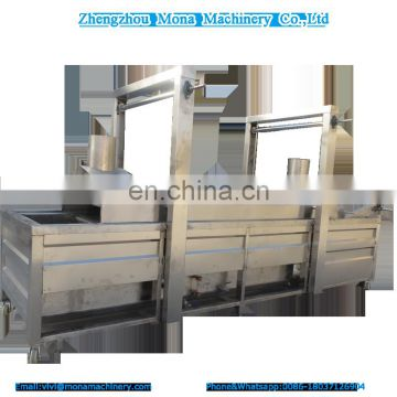 Manufacturer stainless steel belt conveyor automatic continuous fryer/frying machine