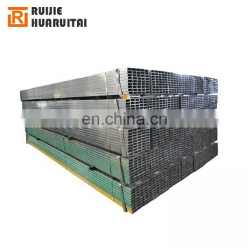 Steel hollow section rectangular and square galvanized steel pipe size 20x20 to 100x100
