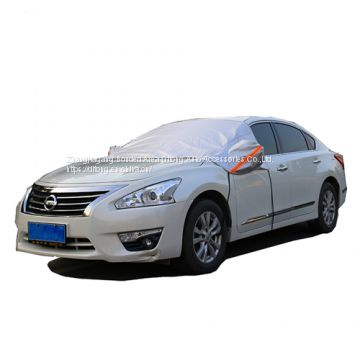 Universal Sunshade Style Aluminum Film Add PP Cotton Car Half Covers