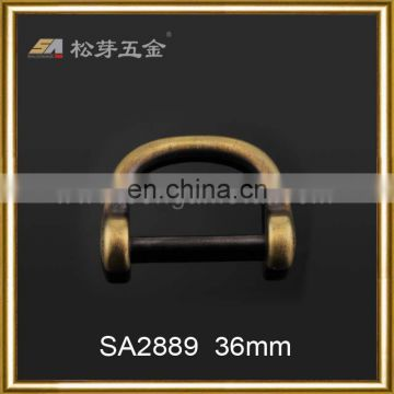 2016 New Design SA2889 antique brass plated d ring metal